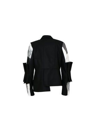 Jacket With Pleated Belt