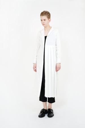 Half Pleated Shirt Dress
