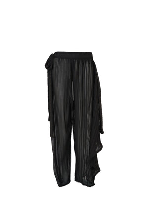 Draped Pleated Trousers