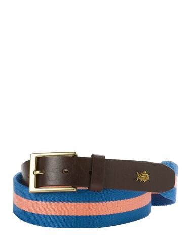 Southern Tide Classic Surcingle Belt in Orange by Southern Tide from THE LUCKY KNOT