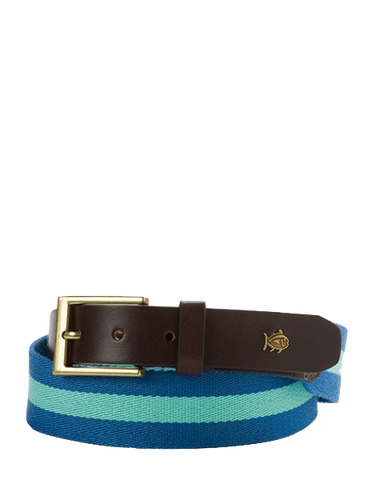 Southern Tide Classic Surcingle Belt in Blue by Southern Tide from THE LUCKY KNOT