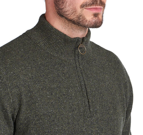 Barbour Tisbury 1/2 Zip Dark Seaweed