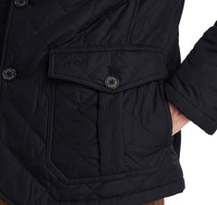 Barbour Quilted Lutz Black