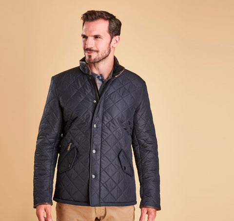 Barbour Powell Quilted Jacket - Navy