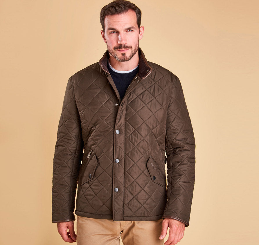 Barbour Powell Quilted Jacket Olive The Lucky Knot Men S