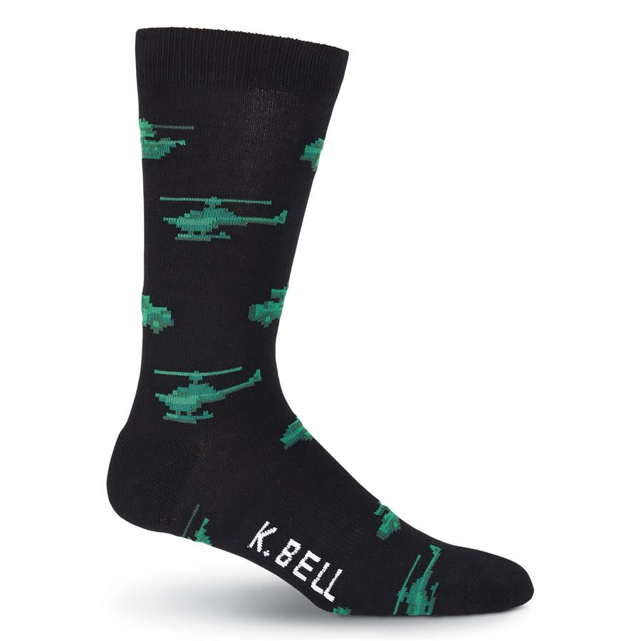 K. Bell Men's American Made Military Transport Crew Socks