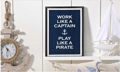 Work Like a Captain Frame Canvas by THE LUCKY KNOT from THE LUCKY KNOT - 2