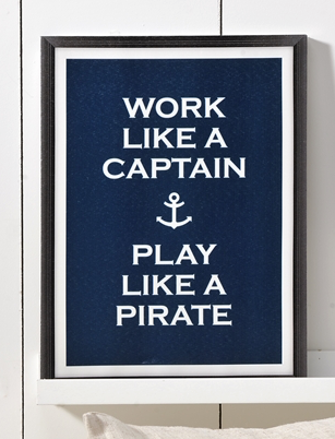 Work Like a Captain Frame Canvas by THE LUCKY KNOT from THE LUCKY KNOT - 1