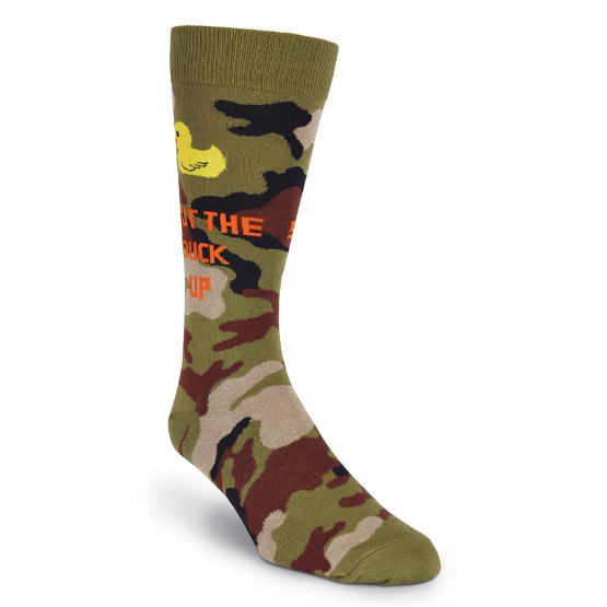 K. Bell Men's Shut The Duck Up Crew Socks