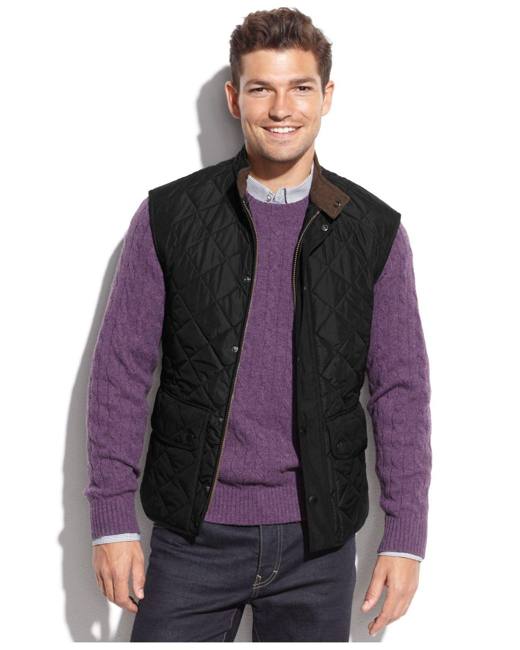 Barbour Lowerdale Quilted Vest - Black