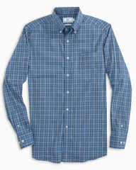 Southern Tide Coastal Passage Tattersall Shirt - True Navy