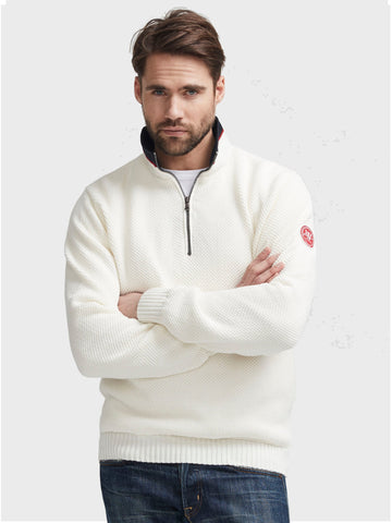Holebrook Classic Wind Proof 1/4 Zip White