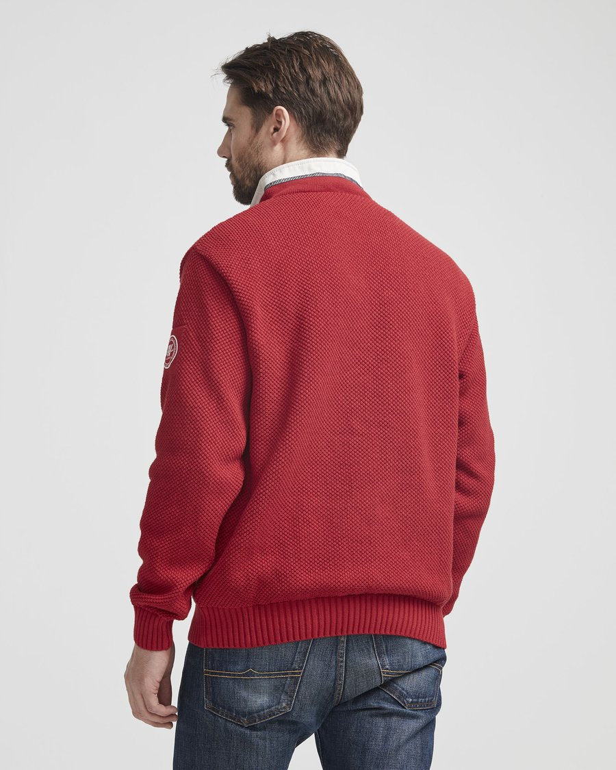 Holebrook Classic Wind Proof 1/4 Zip Red