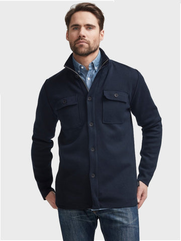 Holebrook Edwin Shirt Jacket Windproof Navy