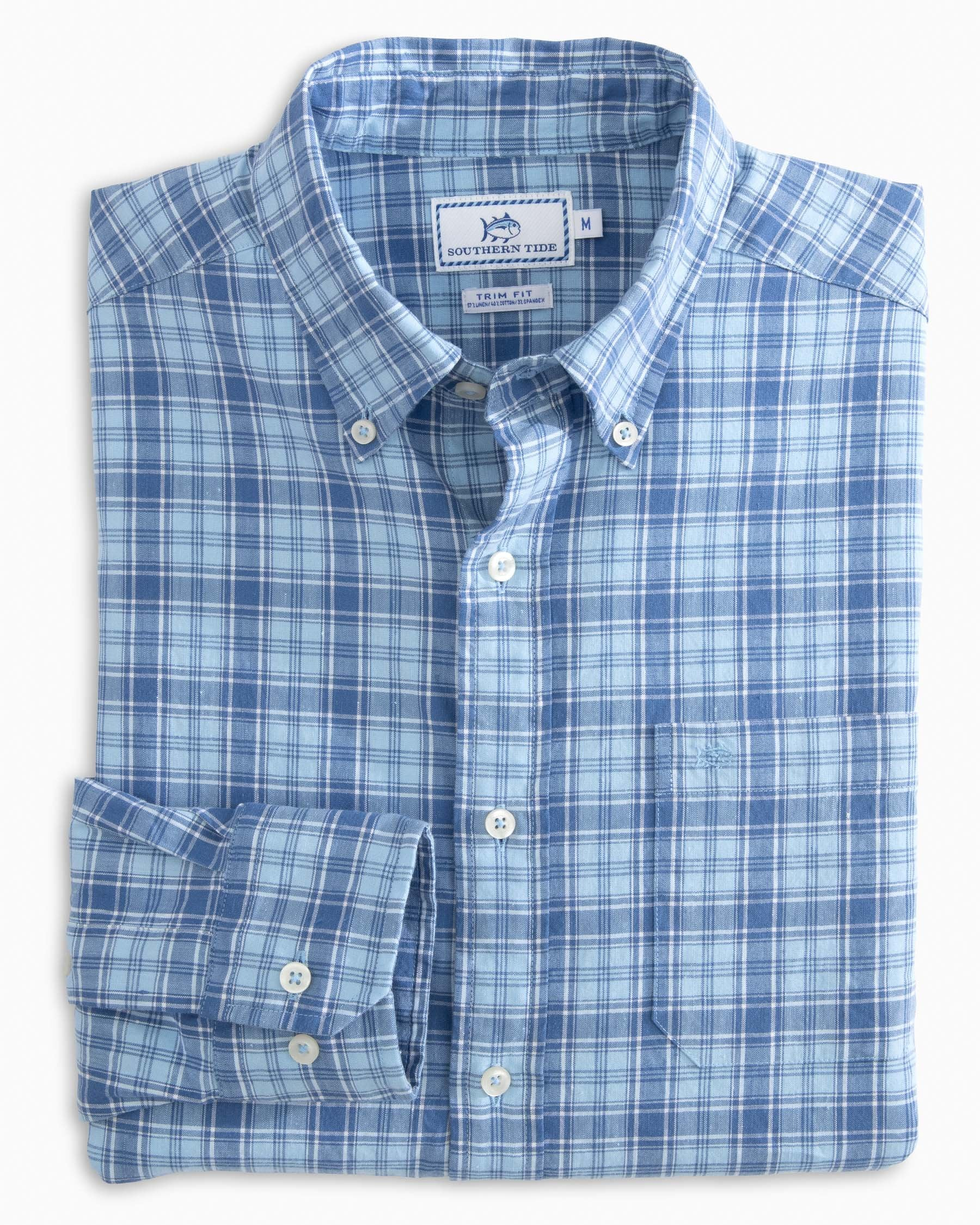 Southern Tide Ocean Point Plaid Sky Blue