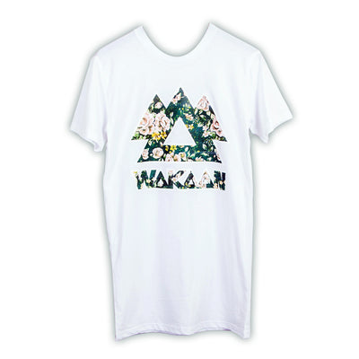WAKAAN White Floral T-Shirt