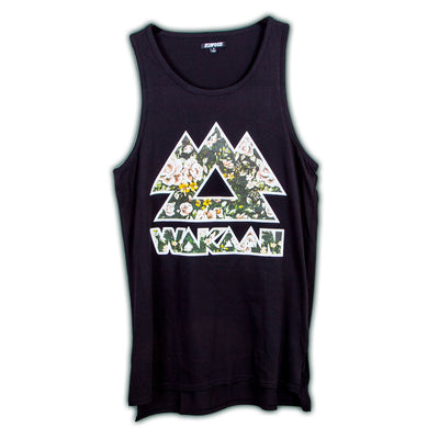 WAKAAN Black Floral Tank Top