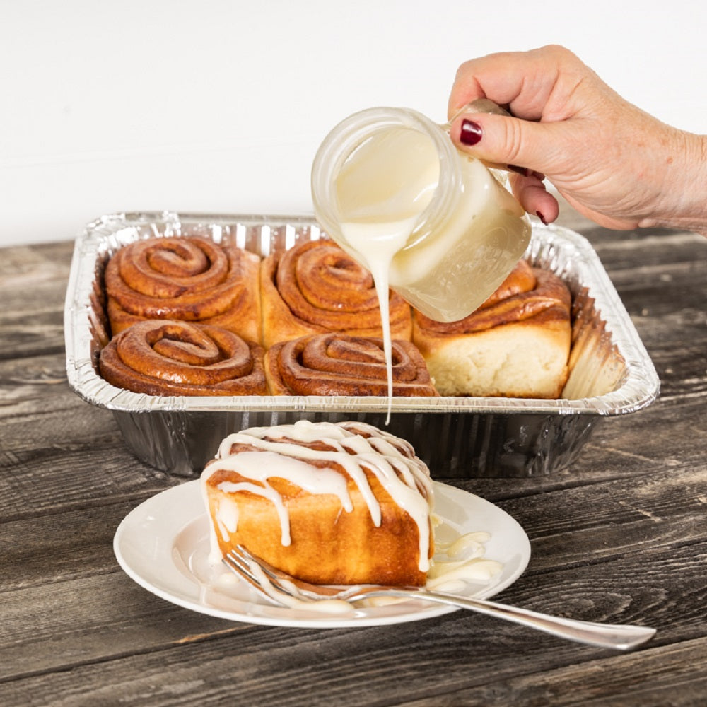 Kneaders Traditional Glazed Cinnamon Rolls and Cream Cheese Icing