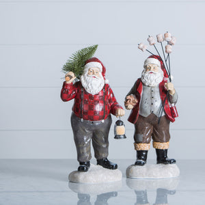 Off-Duty Santa Figurines