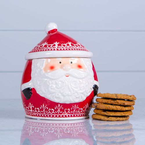 Nordic Santa Cookie Jar