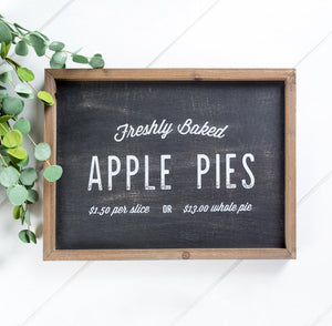 Kneaders Barn Box Sign With Chalkboard Background And Freshly Baked Apple Pies 150 Per