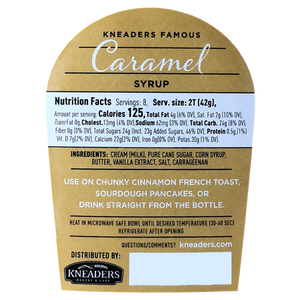 Kneaders Bakery & Cafe Abbie & Ellie Sweets Kneaders Famous Caramel Syrup Nutrition Information