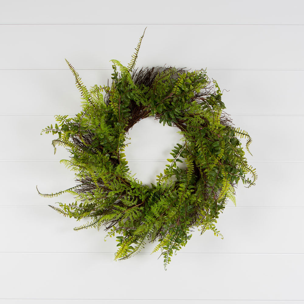 Green Fern Wreath