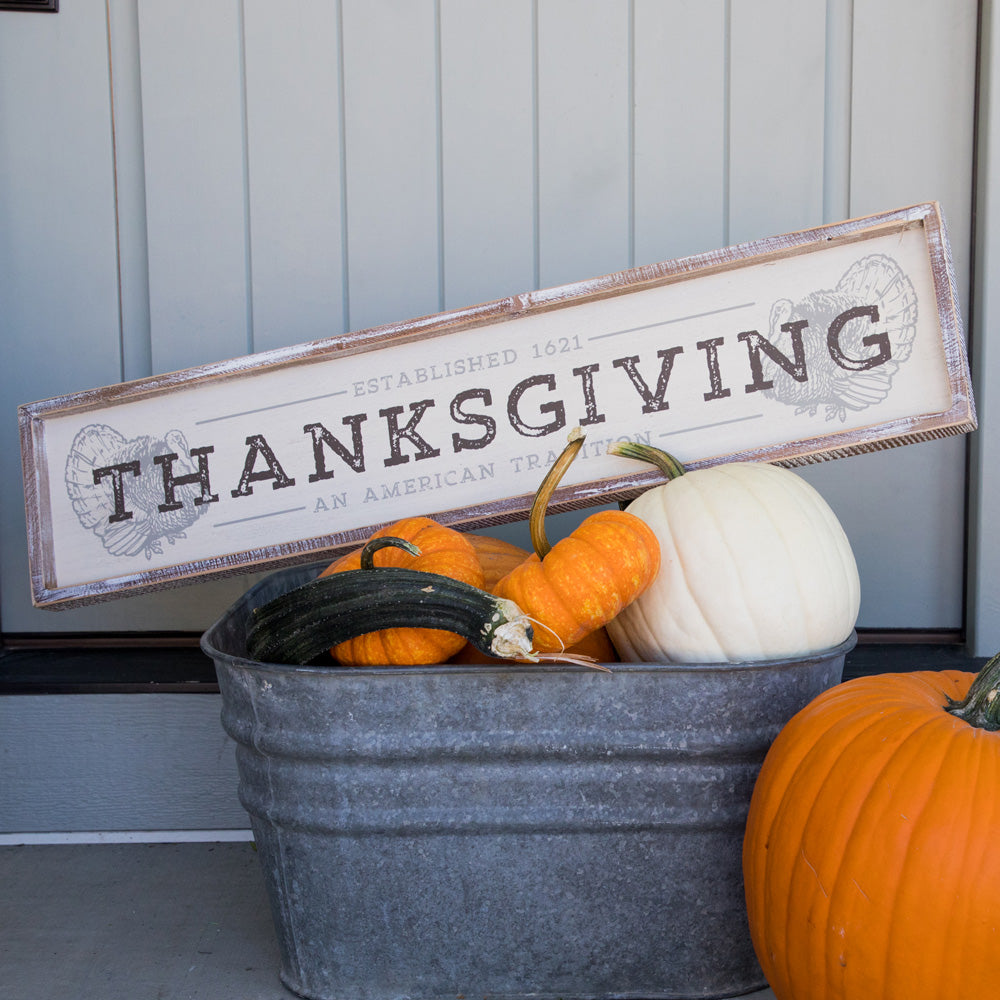 Thanksgiving Box Sign