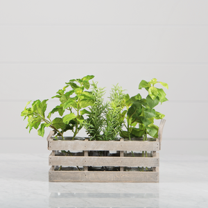 Farmhouse Crate Herb Planter