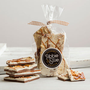 Package of Abbie & Ellie Sweets Handmade Pretzel Bark sold by Kneaders Bakery & Cafe