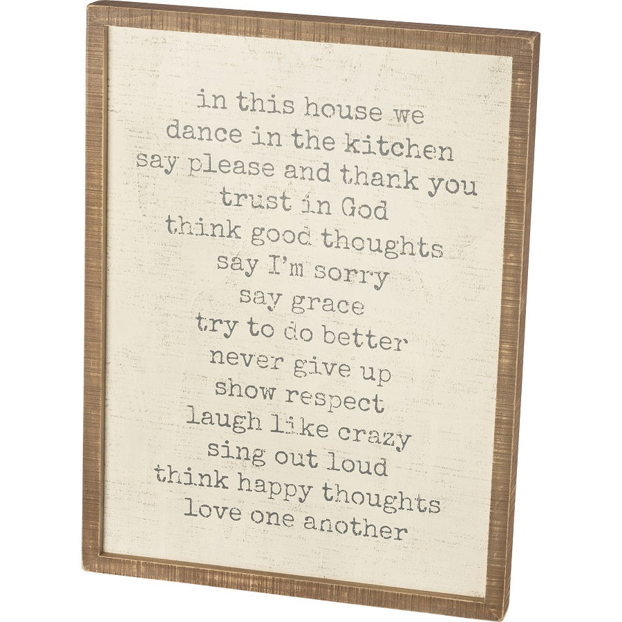 In This House Framed Sign *free shipping