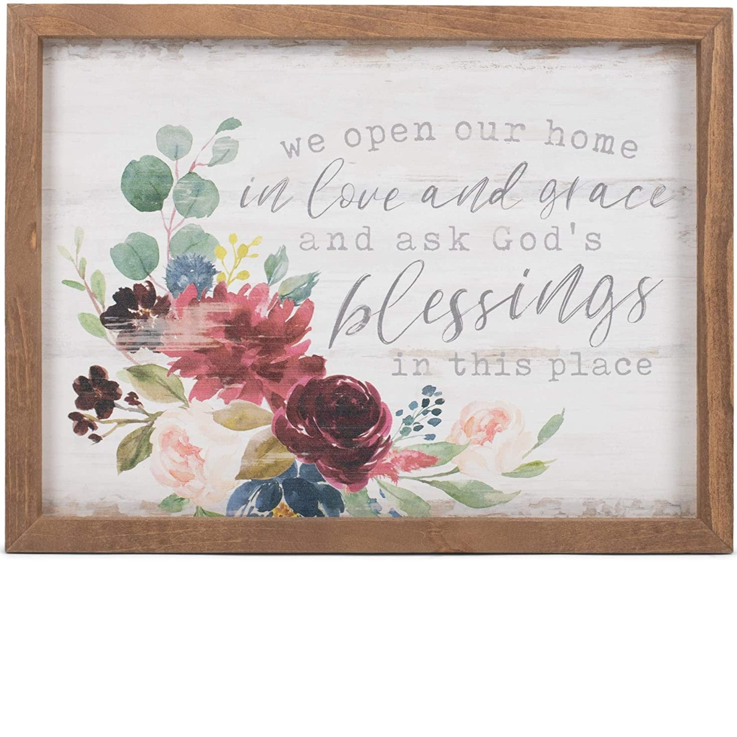 We open our home sign