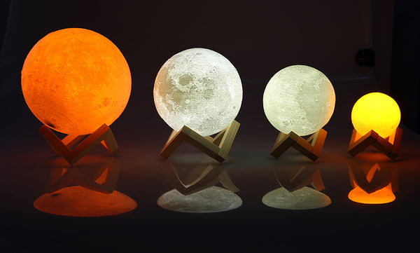AGM LED Night Light Moon Lamp 3D Print Moonlight Luna Touch 2 Colors Changeable Touch Sensor Nightlight For Baby Gift Home Decor