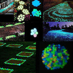 100 Pcs/Pack Garden Ornaments Stone Glow In The Dark Luminous Pebbles Stones for Walkway Wedding Decoration Party Event Supplies