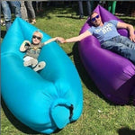 Fashion Fast Inflatable Bean Flatfish Sleeping Bed Laybag Sofa Air Bag for Camping Hiking