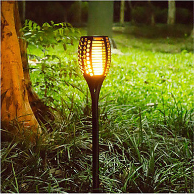 New Solar Flame led fire effect Lawn Lamps Led Torch Light Realistic Flicker Flame Light Waterproof Outdoor Holiday Garden Decor