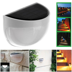 Waterproof 6 LED Solar Lamp Outdoor Garden Decoration Solar Power Panel Landscape Lawn Fence Gutter Wall LED Solar light Lamp