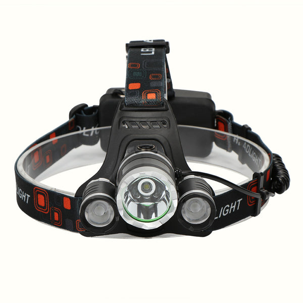 LED Headlight Torch Flashlight Rechargeable 4 Light Modes for Outdoor Sports Bike Bycicle Camping Biking Hunting Fishing