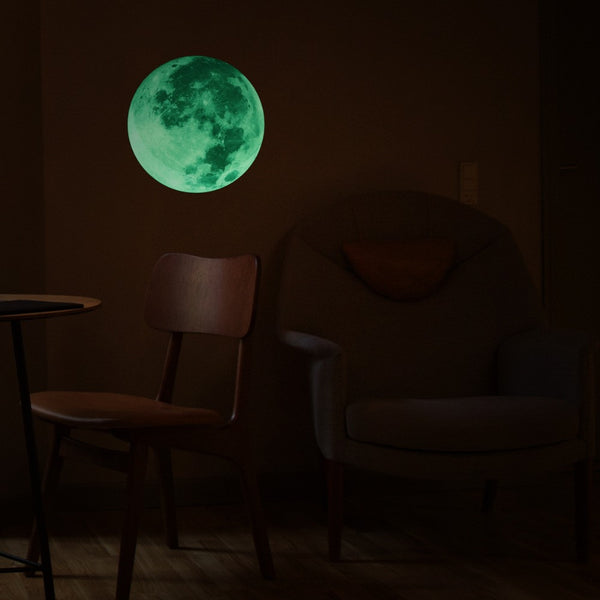 1 PCS Moon Light Luminous Wall Sticker Glow In The Dark Mural Art Wallpaper Art Decor Bedroom Living Room Hotel Restaurant