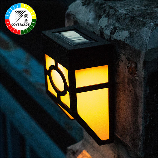 Coversage Led Solar Outdoor Iluminacion Lamp Warm White Landscape Waterproof  Led Solar Energy Wall Lights Garden Porch Lighting