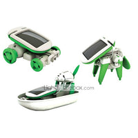 6 In 1 Solar Powered Toys Robot Space Toys Toy Cars Science & Discovery Toys Toys ABS Plastic Pieces Boys' Girls' Gift