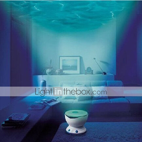 Led Night Light Projector Ocean Daren Waves Projector Projection Lamp With Speaker #02352684