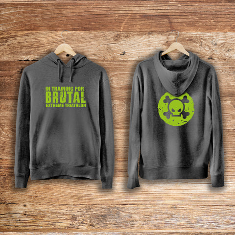 'In training for Brutal' Grey Hoody