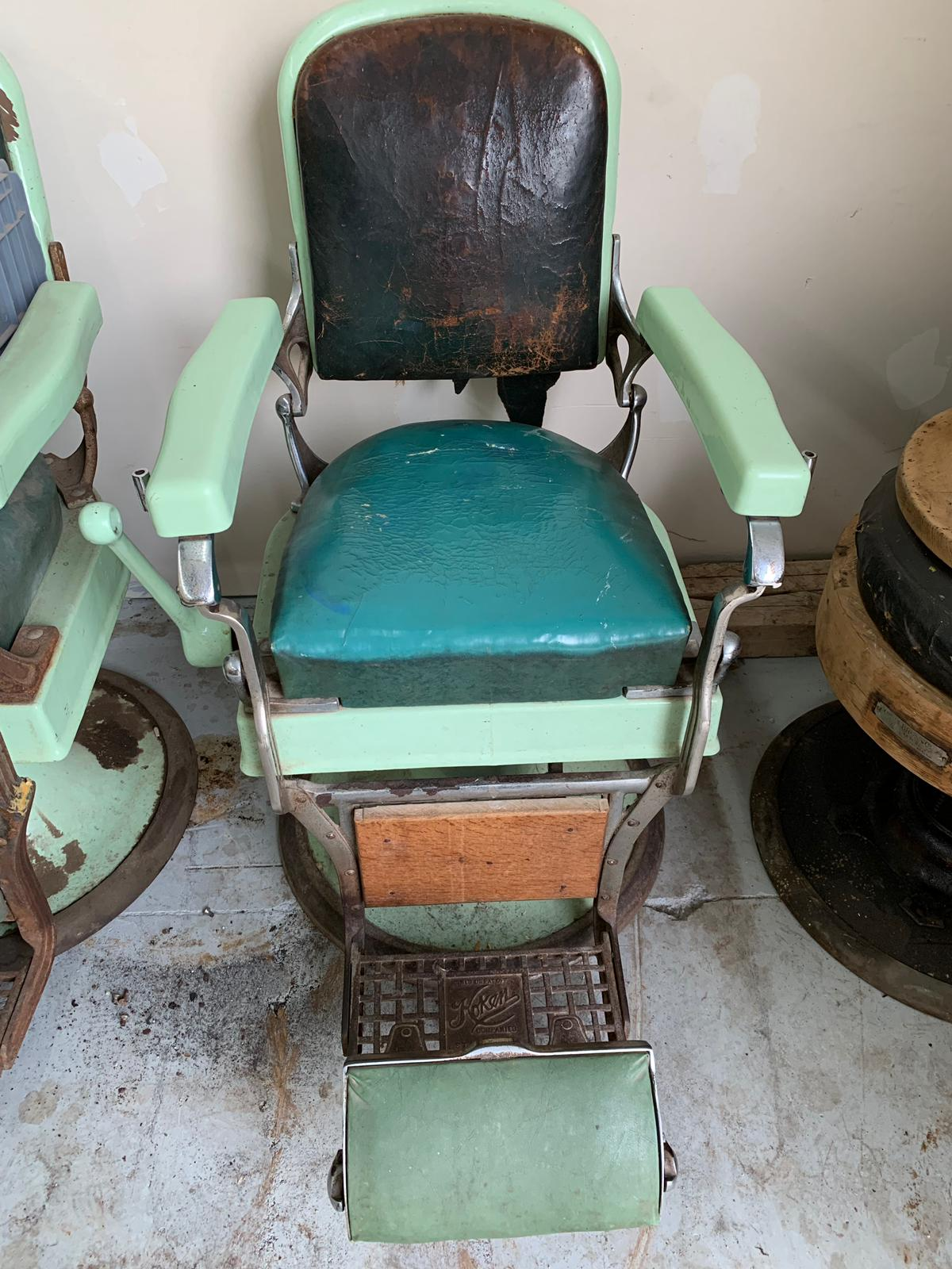 Barber Chairs and what they look like before we fix them - Fade Room