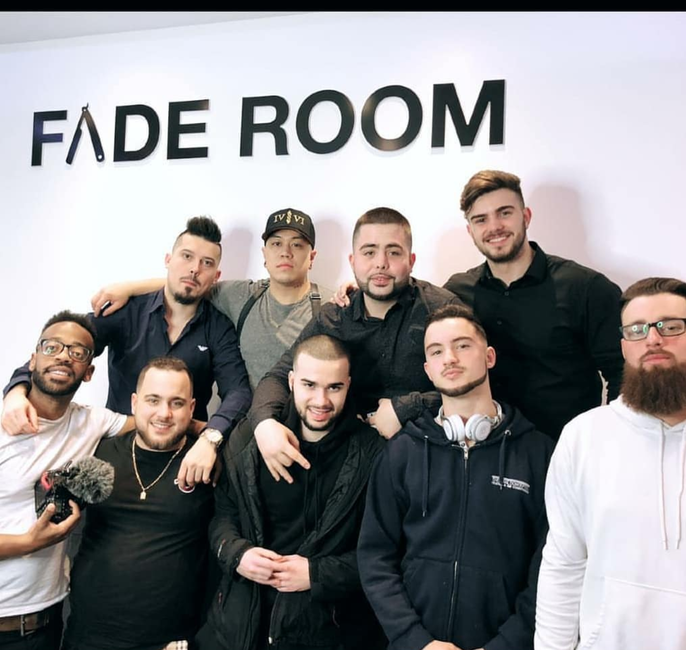 Scott Famos Ramos at Fade Room Toronto hands on barber class