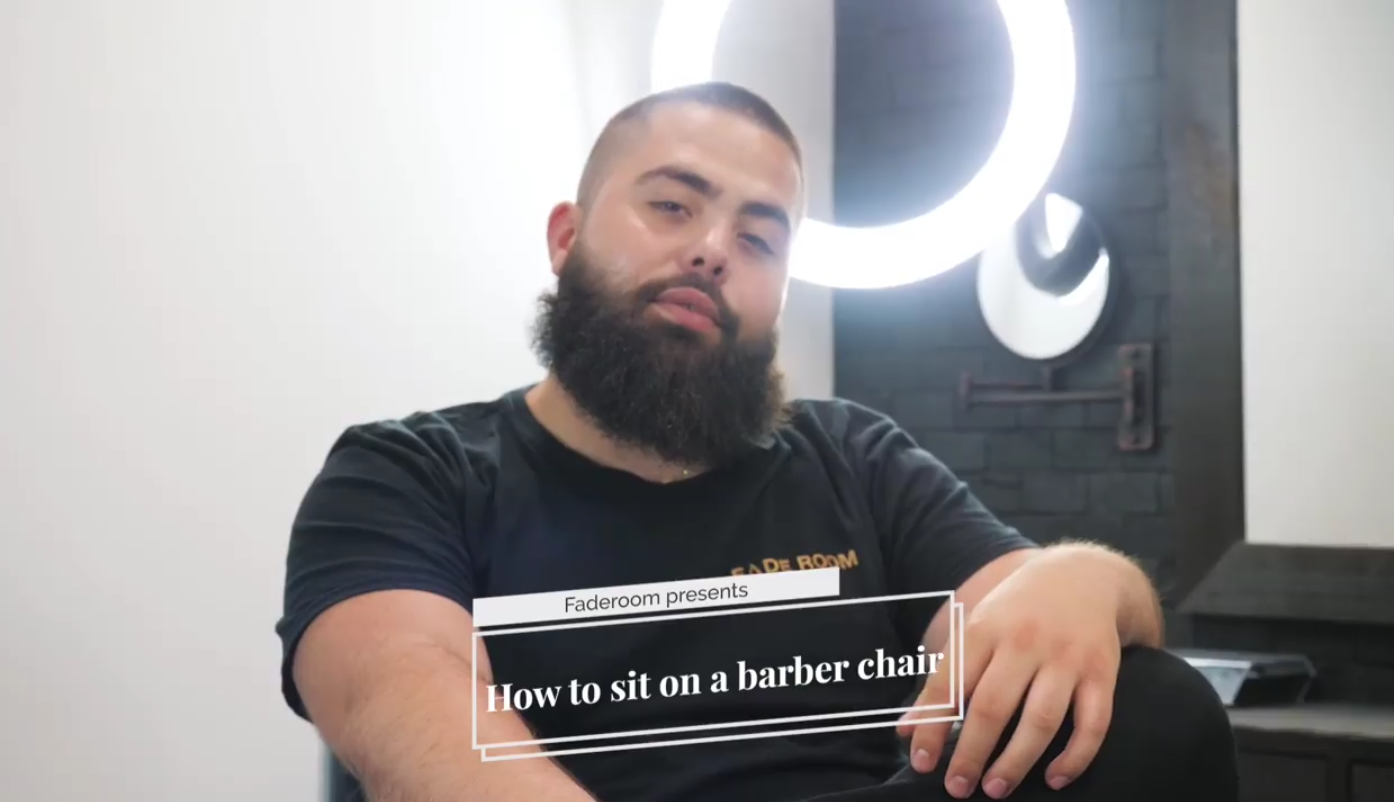 Fade Room - How to sit on a barber chair