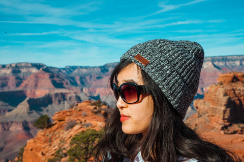 Grand Canyon wearing a Fade Room Salt and Pepper Toque