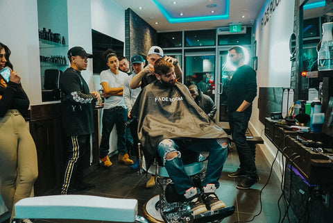 Claudio the barber hosts a barber class - Claudio Ferreira from Fade Room