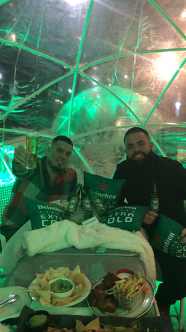 The Fifth social club and Heineken Igloo booth - Claudio Ferreira Fade Room barbershop with Nelson Pires