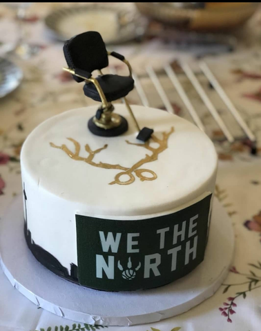 Toronto we the north cake - Nelson Pires aka Buck the barber